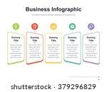 Flat business presentation vector slide template with diagram | Shutterstock vector #379296829