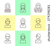 flat line icons set of woman... | Shutterstock .eps vector #379298281
