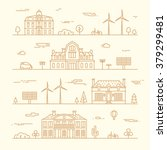 set of linear skylines with... | Shutterstock .eps vector #379299481