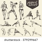 fitness and gymnastic exercises.... | Shutterstock .eps vector #379299667