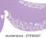 Silhouette Of A Bride With A...