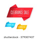 clearance sale tags | Shutterstock .eps vector #379307437