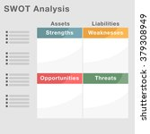 an image of a swot analysis... | Shutterstock .eps vector #379308949