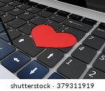 black love keyboard | Shutterstock . vector #379311919