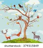 Vector Illustration Of Animals...