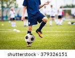 teenagers boys playing soccer... | Shutterstock . vector #379326151