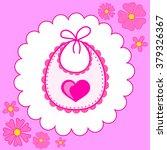 baby bib for girl in vector eps | Shutterstock .eps vector #379326367