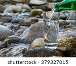 natural drinking water is being ... | Shutterstock . vector #379327015