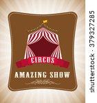 circus icon design  | Shutterstock .eps vector #379327285