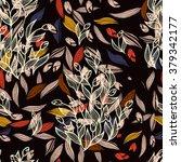 tulip flowers pattern | Shutterstock .eps vector #379342177