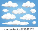 polygon cloud collection  low... | Shutterstock .eps vector #379342795