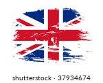 grunge flag of british. vector... | Shutterstock .eps vector #37934674