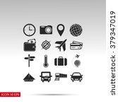 travel icons set | Shutterstock .eps vector #379347019