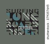 surfing t shirt graphic design. ... | Shutterstock .eps vector #379357645