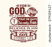 bible typographic. for god so... | Shutterstock .eps vector #379359127
