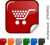 shopping  sticker icon. vector... | Shutterstock .eps vector #37935931