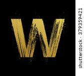 gold glittering letter w in...   Shutterstock .eps vector #379359421
