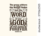 Bible Typographic. The Grass...