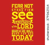 Bible Typographic. Fear Not ...