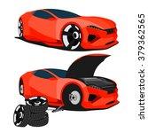 auto service  sedan car...   Shutterstock .eps vector #379362565