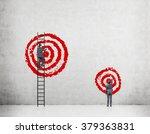 a businessman on a ledder... | Shutterstock . vector #379363831