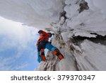 Waterfall Ice Climbing In A...
