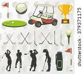golf player silhouette  | Shutterstock .eps vector #379371175