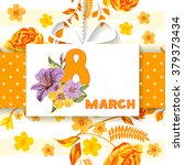 floral number   8  eight  from... | Shutterstock .eps vector #379373434