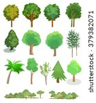 trees on a white background.  ... | Shutterstock .eps vector #379382071