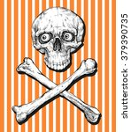 skull and crossbones   hand... | Shutterstock .eps vector #379390735