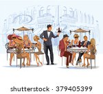 series of fashion people  men... | Shutterstock .eps vector #379405399