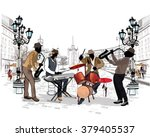 series of the streets with... | Shutterstock .eps vector #379405537