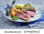 Tuna Steak With Home Fries