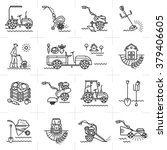 modern icons of agriculture ... | Shutterstock .eps vector #379406605