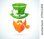 irish leprechaun logo for... | Shutterstock .eps vector #379411309