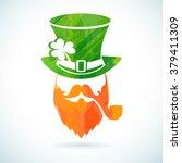 irish leprechaun logo for... | Shutterstock .eps vector #379411309