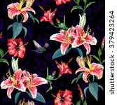 seamless floral pattern with... | Shutterstock . vector #379423264