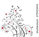 vector illustration of musical... | Shutterstock .eps vector #379423441