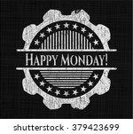happy monday  written on a... | Shutterstock .eps vector #379423699