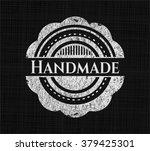 handmade written on a blackboard | Shutterstock .eps vector #379425301