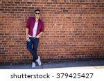 Young Man Wearing A Check Shirt ...