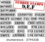 collection of rubber stamps... | Shutterstock . vector #3794338