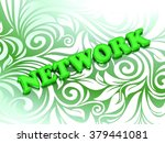 network  bright color letters... | Shutterstock . vector #379441081