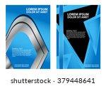 vector business brochure  flyer ... | Shutterstock .eps vector #379448641