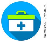 first aid toolbox long shadow... | Shutterstock . vector #379458871