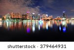 orlando lake eola panorama with ... | Shutterstock . vector #379464931