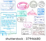 collection of passport stamps... | Shutterstock . vector #37946680