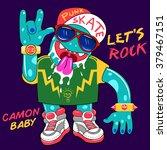 punk rock monster  | Shutterstock .eps vector #379467151