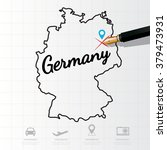 germany map infographic | Shutterstock .eps vector #379473931