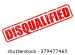 disqualified red stamp text on... | Shutterstock .eps vector #379477465